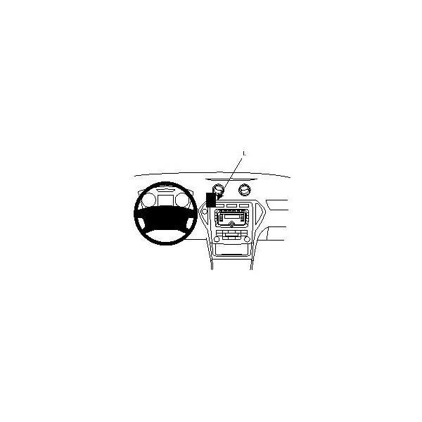 Brodit ProClip montážní konzole pro Ford Mondeo 08-14, NE pro palubku s navigací, na střed 854055 Černá