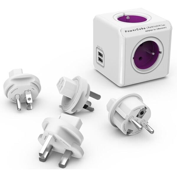PowerCube ReWirable USB Fialová