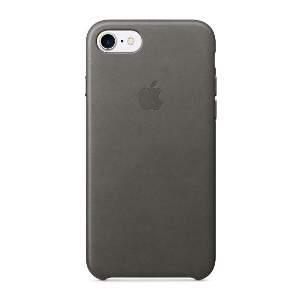 Pouzdro APPLE iPhone 7 Leather Case Bouřkově šedá