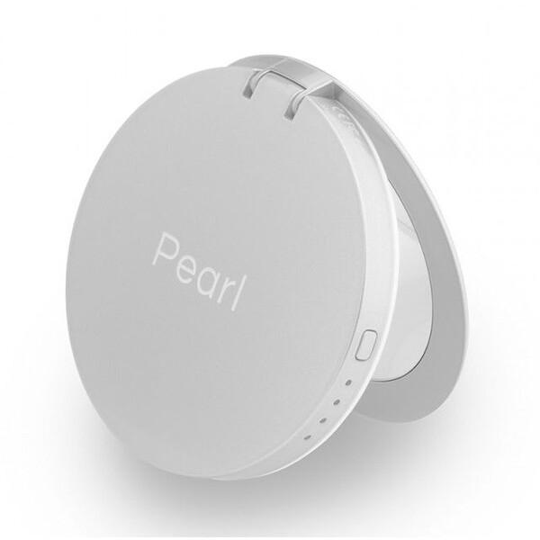 Hyper Pearl zrcátko se záložním zdrojem 3000 mAh stříbrná