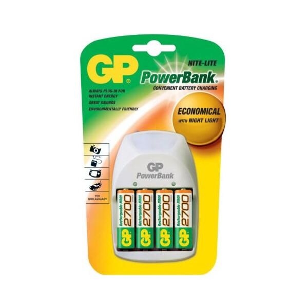 GP nabíječka Power Bank NiMH + 4x 2700 mAh baterie