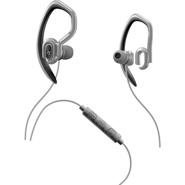Sportovní in-ear stereo sluchátka CELLULARLINE SPORT JUMP s externím hákem, AQL® certifikace, 3,5 mm Šedá
