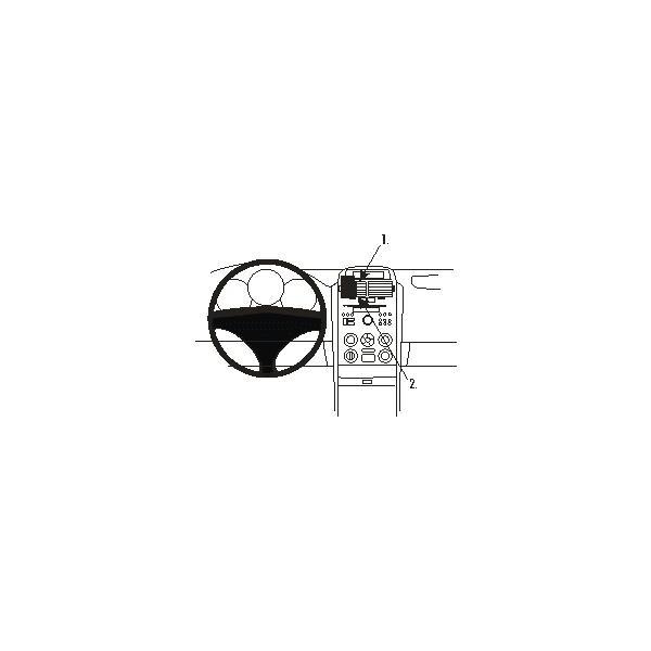 Brodit ProClip montážní konzole pro Suzuki Grand Vitara 05-15, na střed vlevo 853676 Černá