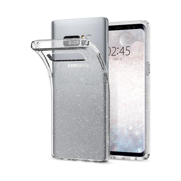 Pouzdro Spigen Liquid Crystal Shine Clear Samsung Galaxy S8 Čirá