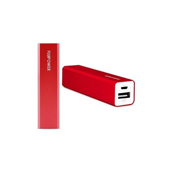 Fujipower univerzální externí baterie/nabíječka 2200 mAh červená