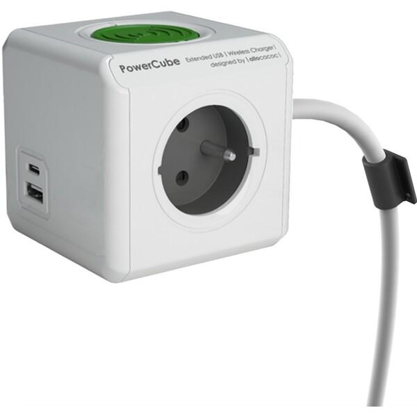 Powercube Extended USB WirelessCharger A+C zásuvka