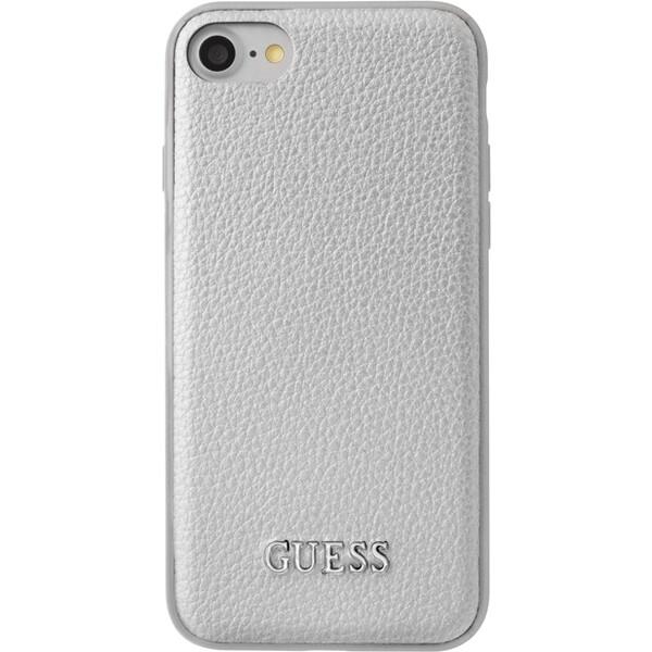 Pouzdro Guess IriDescent TPU iPhone 7 stříbrné Stříbrná