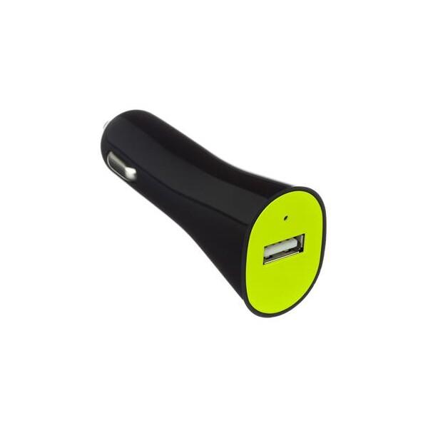 KIT autonabíječka USB 1A černá/limetková