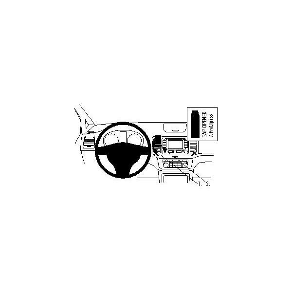 Brodit ProClip montážní konzole pro Volkswagen Sharan 11-15/ Seat Alhambra 11-15, na střed 854562 Černá