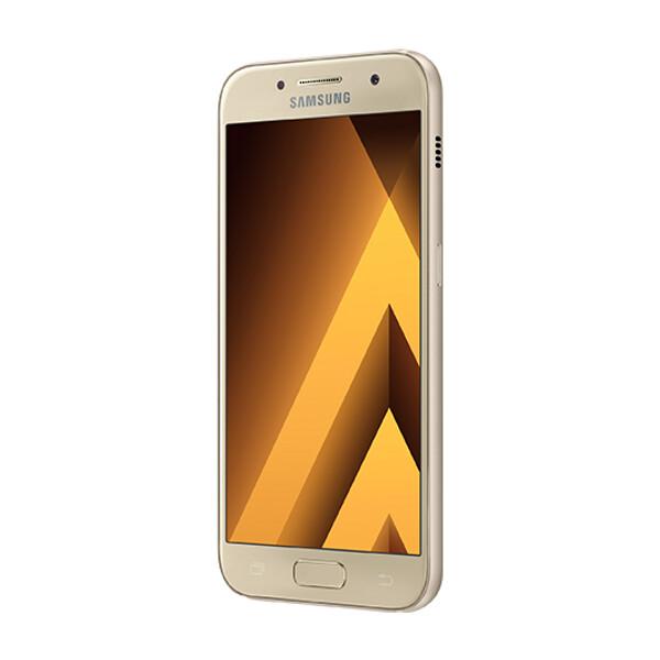 Samsung Galaxy A3 (2017) A320F LTE zlatý + Získáte 1500 Kč zpět na váš účet!