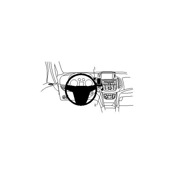 Brodit ProClip montážní konzole pro Opel Zafira C 12-16, na střed 854733 Černá