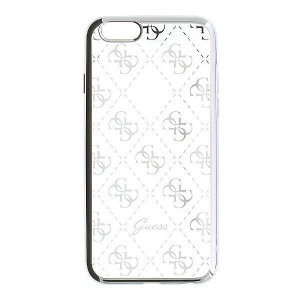 Pouzdro Guess Apple iPhone 5 / 5S / SE - 4G TPU stříbrné Stříbrná