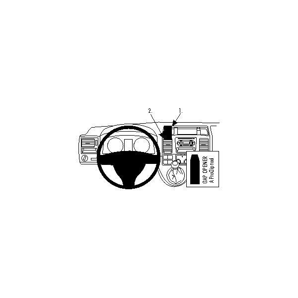 Brodit ProClip Volkswagen Caravelle 10-11/T5 Transporter/Pickup 10-11,NE pro úložný prostor 854432 Černá