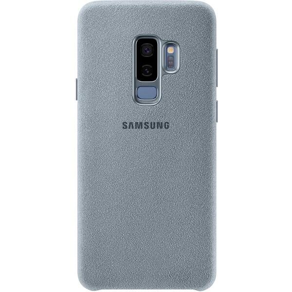 Samsung zadní kryt z kůže Alcantara Samsung Galaxy S9+ mentolový EF-XG965AMEGWW Mentolová