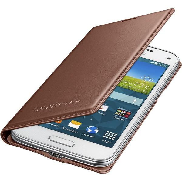 Samsung EF-FG800BF flip pouzdro Galaxy S5 mini zlaté
