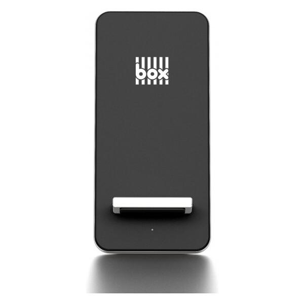 BOX Products hliníkový stojánek s bezdrátovým nabíjením stříbrný