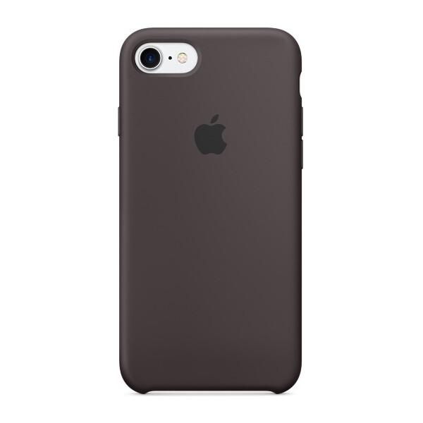 Pouzdro APPLE iPhone 7 Silicone Case Kakaově hnědá