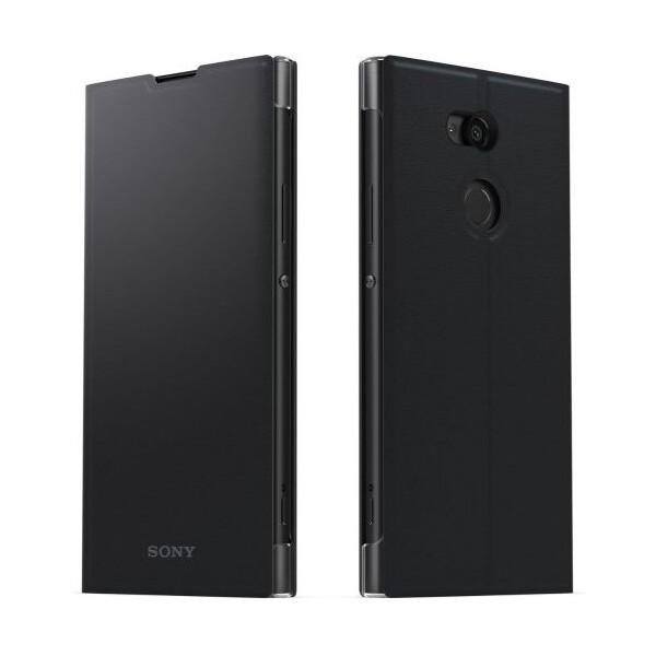 Pouzdro SCSH10 Sony Style Cover Flip Xperia XA2 černé Černá