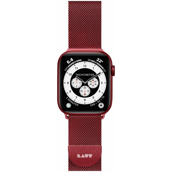 LAUT Steel Loop pásek na Apple Watch 42/44 mm červený