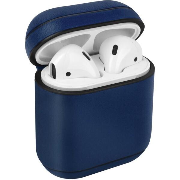 UNIQ Terra kožené ochranné pouzro pro Apple AirPods modré
