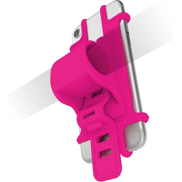 Univerzální držák CELLY EASY BIKE pro telefony a navigace k upevnění na řídítka EASYBIKEGN Růžová