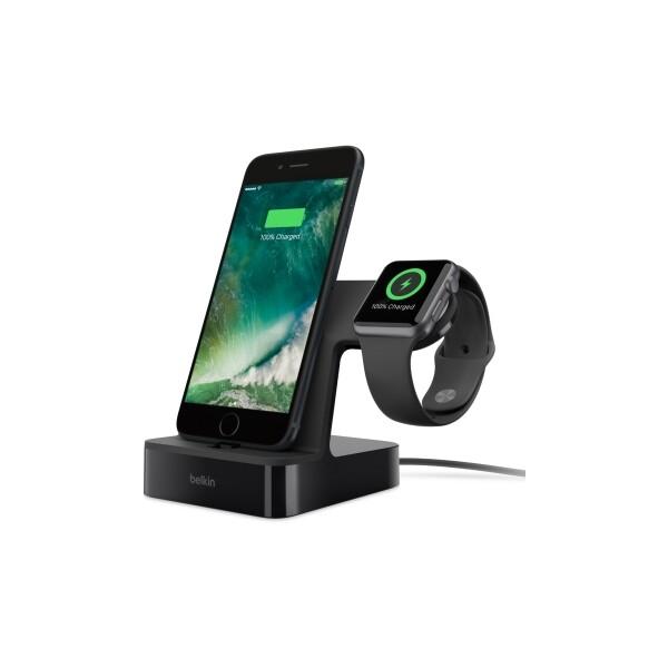 Belkin Valet nabíjecí stojánek pro Apple Watch + iPhone 7 černý