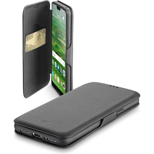 CellularLine Book Clutch pouzdro typu kniha Huawei P20 Černá