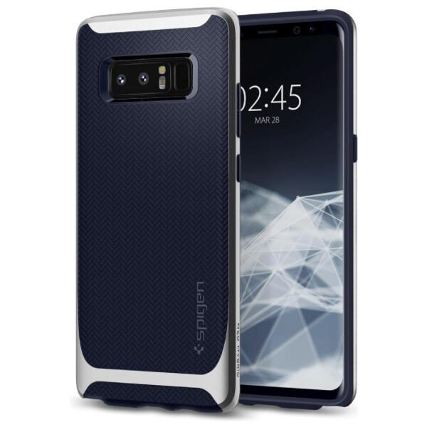 Pouzdro Spigen Neo Hybrid Galaxy Note 8 arctic stříbrné Stříbrná