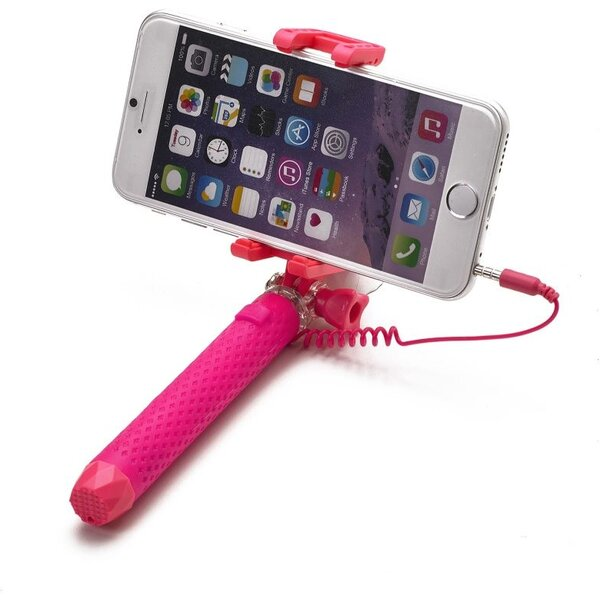 Bluetooth selfie stick CELLY Mini, růžová Růžová