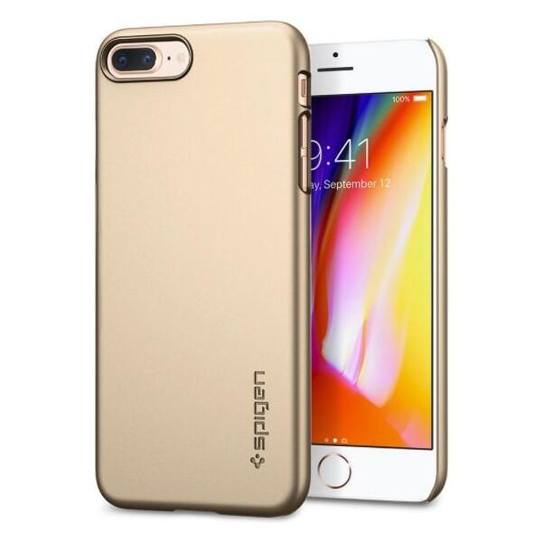 Pouzdro SPIGEN Thin Fit iPhone 7+ 8+ zlaté Zlatá 5557d20bf4d