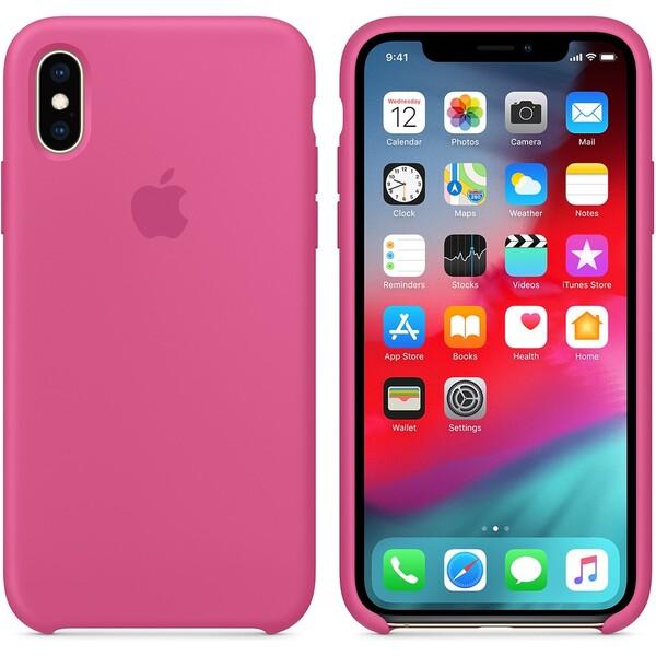 Apple silikonový kryt iPhone XS tropicky růžový