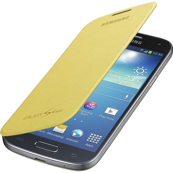 Samsung EF-FI919BY flip pouzdro Galaxy S4 mini žluté