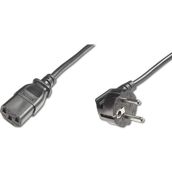 PREMIUMCORD napájecí kabel 230V 2m úhlový 90st, kpsp2-90, 2m Černá