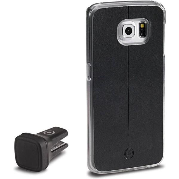CELLY Smart Drive magnetický držák Samsung Galaxy S6 Edge černý
