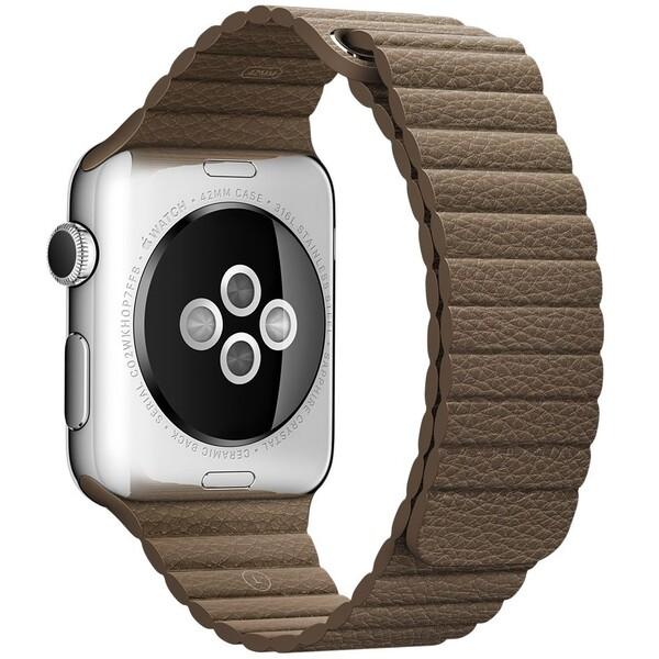 Apple Watch kožený řemínek 42mm M hnědý