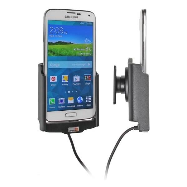 Brodit držák do auta na Samsung Galaxy S5 G900 bez pouzdra, s nabíjením z cig. zapalovače 512623 Černá