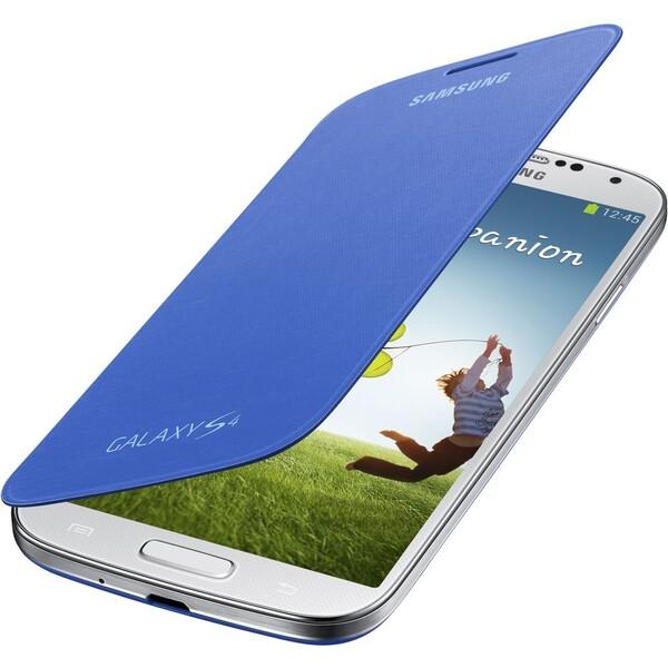 Samsung EF-FI950BC flip pouzdro Galaxy S4 světle modré