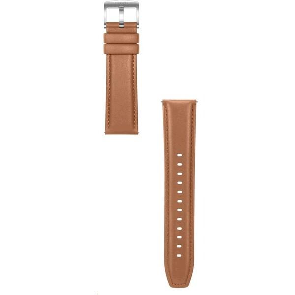 Huawei kožený 22mm řemínek Watch GT/GT2 hnědý