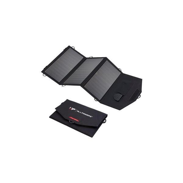 Solární nabíječka Allpowers SP18V21W Černá