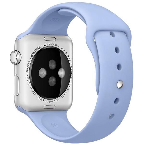 Apple Watch sportovní řemínek 42mm šeříkově modrý