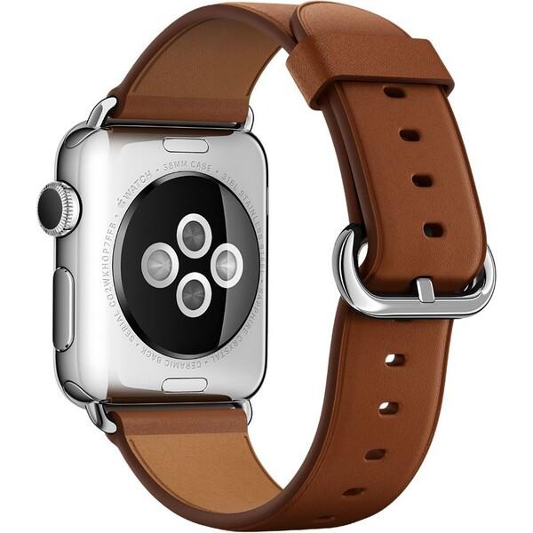 Apple Watch kožený řemínek s klasickou přezkou 38mm hnědý