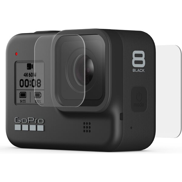 GoPro tvrzené ochranné sklo na čočku + ochranné sklo na displej HERO8 Black