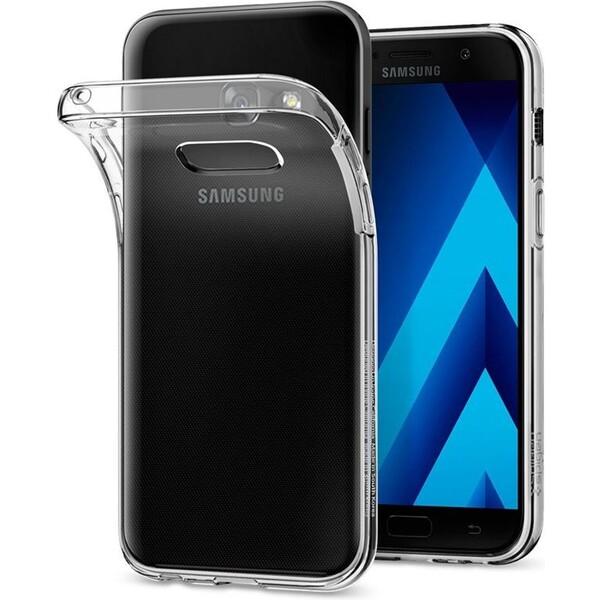 Pouzdro Spigen Liquid Crystal Galaxy A3 2017 čiré Čirá