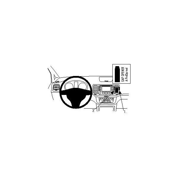 Brodit ProClip montážní konzole pro Volkswagen Sharan 11-15/Seat Alhambra 11-15, na střed 854563 Černá