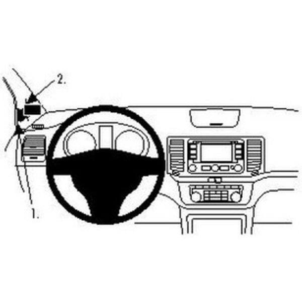 Brodit ProClip montážní konzole pro Volkswagen Sharan 11-15/Seat Alhambra 11-15, vlevo 804564 Černá