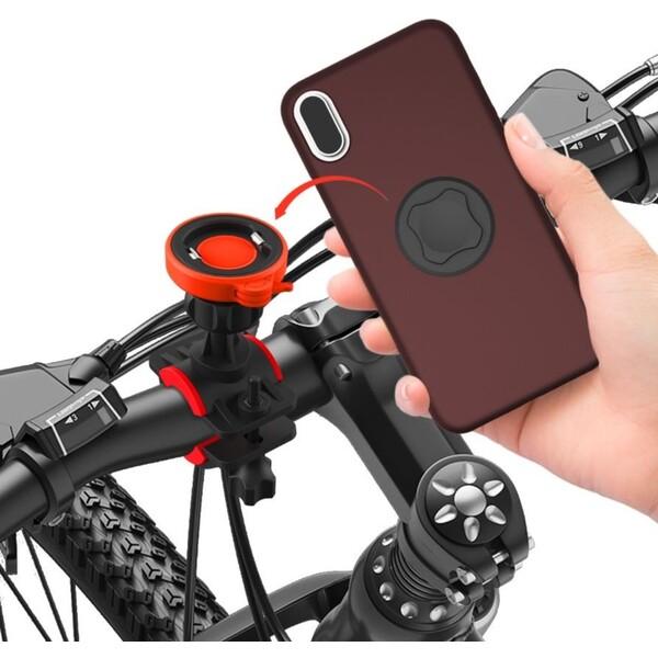 RhinoTech držák mobilního telefonu na kolo oranžový/černý