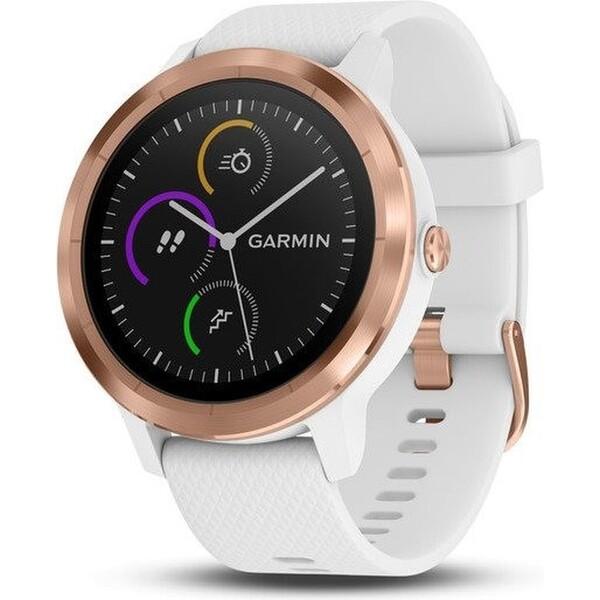 Garmin vívoActive3 Optic chytré hodinky řůžově zlaté/bílý pásek