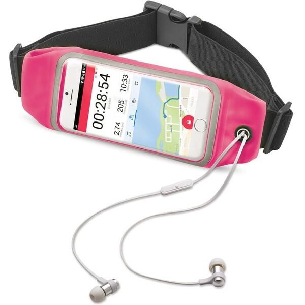 """CELLY RunBelt View sportovní neoprénové pouzdro pro telefony do 4.7"""" růžové RUNBVIEWXLPK Růžová"""