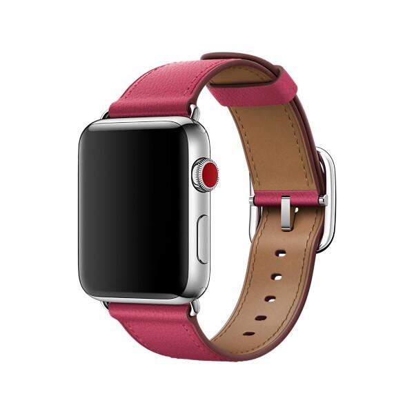 Apple Watch 42mm fuchsiový řemínek s klasickou přezkou Fuchsiová