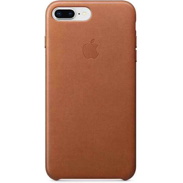 Pouzdro Apple Leather Case iPhone 8 Plus / 7 Plus - sedlově hnědé Sedlově hnědá